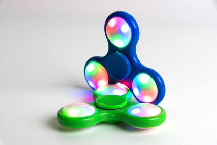 Zwei LED Fidget Spinner
