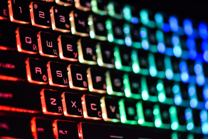 RGB LED-Beleuchtung bei Gaming-Tastatur